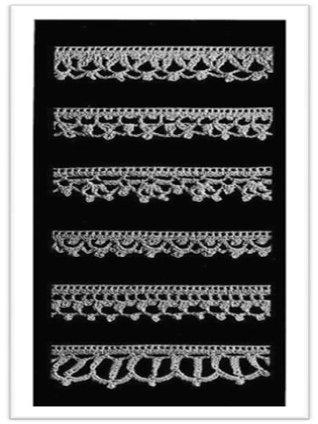 #1755 Crocheted Edgins Vintage Crochet Pattern