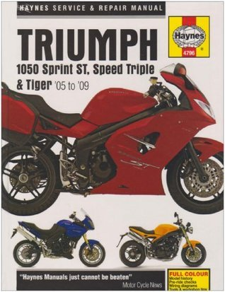 Triumph 1050 Sprint St, Speed Triple, & Tiger Service and Repair Manual: 2005 to 2009