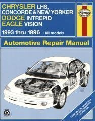 Chrysler Lh-Series Automotive Repair Manual: Models Covered : Chrysler New Yorker, Lhs and Concorde, Dodge Intrepid and Eagle Vision 1993 Through 1996 (Haynes Auto Repair Manuals Series)