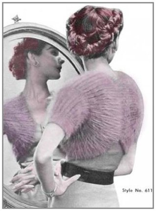 Easy Glamour Knit Evening Bolero Shrug Vintage Knitting Pattern EBook Download