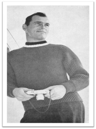#1857 Fisherman's Rib Pull Over Vintage Knitting Pattern