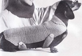 Very Easy Knit Stitch Dachshund Dog Blanket Sweater Coat Knitting Pattern Great for Beginners