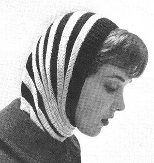 Bumble Bee Hood Scarf Knit Knitting Vintage Pattern EBook Download Needlecrafts