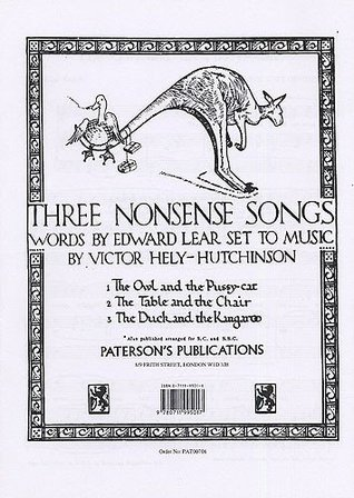 Hely Hutchinson Three Nonsense Songs Vce