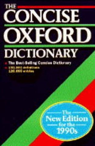 Concise Oxford English Dictionary - Wikipedia