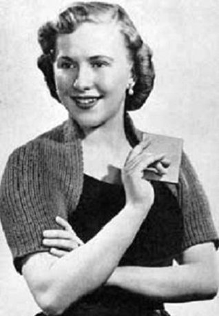 KNITTED SHOULDERETTE BOLERO SHRUG SWEATER - A Vintage 1953 Knitting Pattern - Kindle eBook download - Also available for download to Android, Blackberry, ... PC, and others. Text to speech compatible.