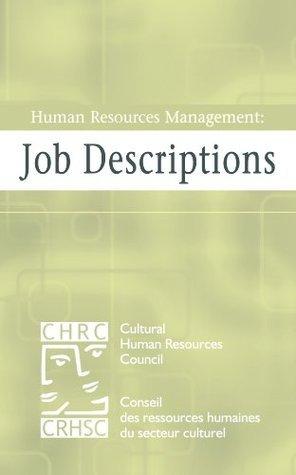 Human Resources Management: Job Descriptions