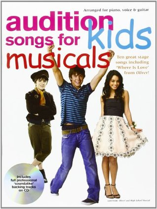 Audition Songs For Kids Musicals Pvg Book/Cd