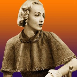 Fringed Capelet Vintage Knitting Pattern Knit Cape EBook Download