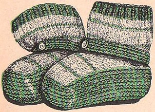 Infant's Slipper Socks Knitting Pattern Baby Vintage Knit Booties EBook Download