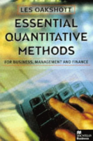 Essential Quantitative Methods for Business, Management and Finance