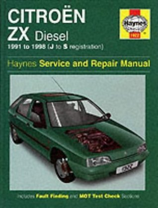 Citroen ZX Diesel (1991-1998) Service and Repair Manual (Haynes Service and Repair Manuals)