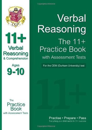 11+ Verbal Reasoning & Comprehension Practice Book with Assessment Tests (Ages 9-10) for CEM (Durham University) Tests