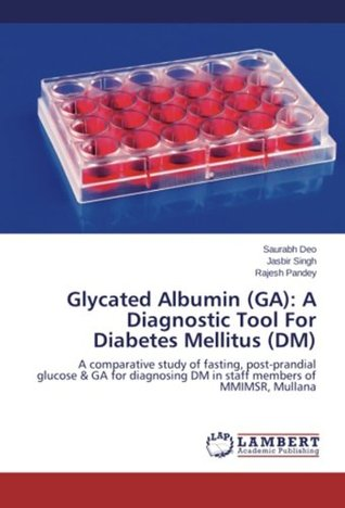 Glycated Albumin (GA): A Diagnostic Tool For Diabetes Mellitus (DM): A comparative study of fasting, post-prandial glucose & GA for diagnosing DM in staff members of MMIMSR, Mullana