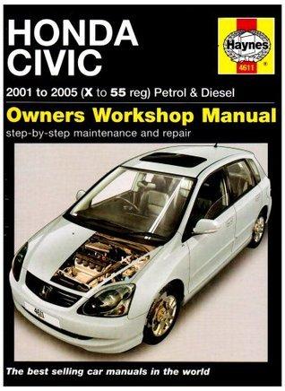 Honda Civic Petrol And Diesel Service And Repair Manual: 2001 To 2005