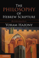 The Philosophy of Hebrew Scripture: An Introductio...