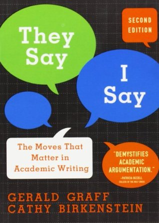 """""""They Say / I Say"""" by Gerald Graff"""