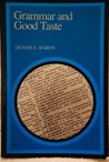 Grammar and Good Taste: Reforming the American Language