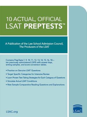 10 Actual, Official LSAT Preptests: (preptests 7,9,10,11,12,13,14,15,16,18)