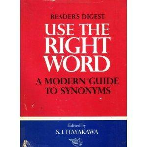 Use the Right Word: Modern Guide to Synonyms and Related Words EPUB