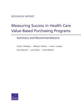 Measuring Success in Health Care Value-Based Purchasing Programs: Summary and Recommendations