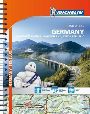Michelin Germany/Austria/Benelux/Switzerland Road Atlas por Michelin