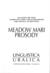 Meadow Mari Prosody