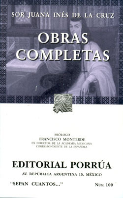 Obras Completas. by Sor Juana Inés de la Cruz