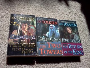 THE LORD OF THE RINGS Trilogy - (The Fellowship of the Ring, The Return of the Ring, The Two Towers) - 3 BOOK SET (MOVIE COVERS)