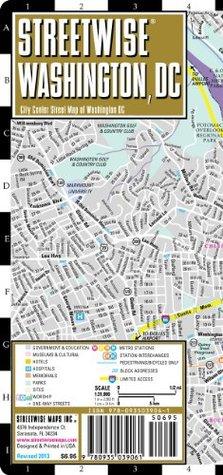 Streetwise Washington DC Map Laminated City Street Map Of - Laminated folding us map