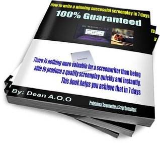 How to write a winning successful screenplay in 7 days...100% Guaranteed