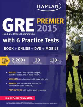 GRE® Premier 2015 with 6 Practice Tests: Book + DVD + Online + Mobile