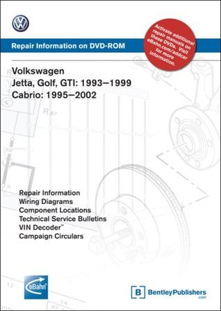 Volkswagen Jetta, Golf, GTI 1993-1999, Cabrio 1995-2002: Repair Manual on DVD-ROM
