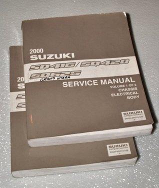 2000 Suzuki Vitara, Grand Vitara Factory Service Manuals (SQ416 / SQ420 / SQ625 Series, 2 Volume Set)