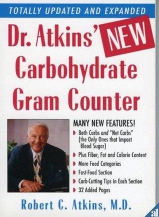 Dr. Atkins Carb Gram Counter Chart