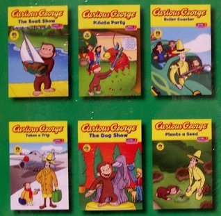 Curious George Pinata Party / Plants a Seed / The Dog Show / Takes a Trip / The Boat Show / Roller Coaster - 6 Book Set (Green Light Readers, Level 1)