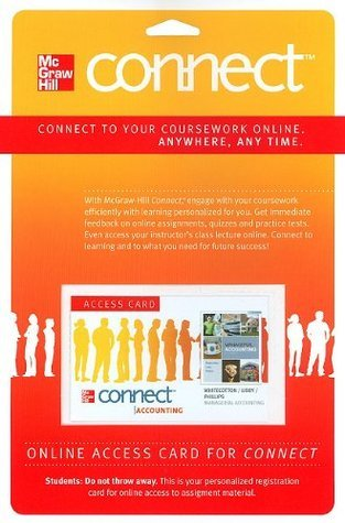 Connect Accounting Pass Card to accompany Managerial Accounting (McGraw Hill Connect
