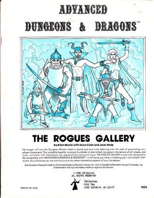 The Rogues Gallery: A Compendium Of Non Player Characters For Advanced Dungeons & Dragons