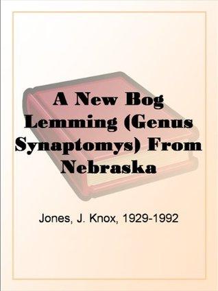 A New Bog Lemming (Genus Synaptomys) From Nebraska