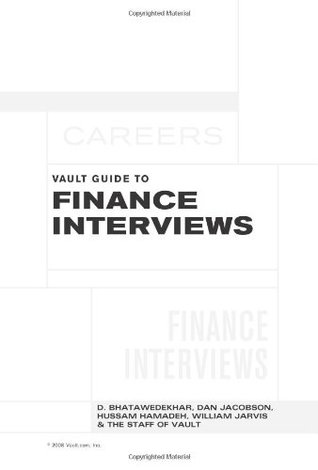 The Vault Guide to Finance Interviews