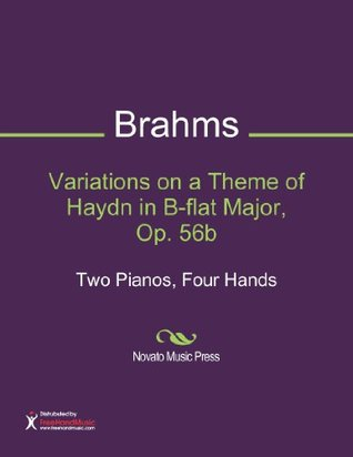 Variations on a Theme of Haydn in B-flat Major, Op. 56b Sheet Music (Two Pianos, Four Hands)