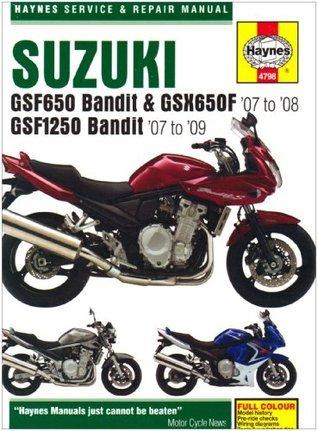 Suzuki Gsf650/1250 Bandit & Gsx650f Service and Repair Manual: 2007 to 2009