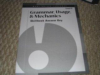 Many Voices Language Level G Grammar, Usage, & Mechanics Skillbook Answer Key