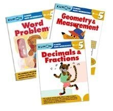 Kumon Grade 5 Math workbooks (3 books) - Fraction, Geometry & Measurement and Word Problem