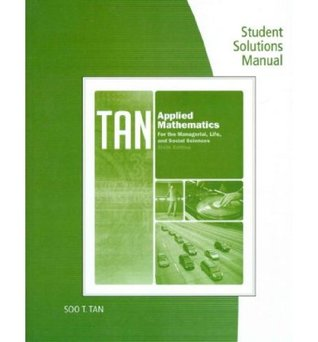 student solutions manual for tan s applied calculus for the rh goodreads com Calculus Early Transcendentals 11th Calculus Early Transcendentals 9th Edition
