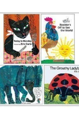 Eric Carle Set (4 Books) (The Grouchy Ladybug; Today is Monday; Do You Want to Be My Friend?; Rooster's Off to See the World)