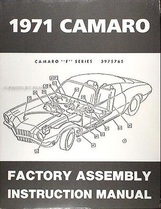 1971 Camaro Reprint Factory Assembly Manual