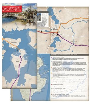 Paul Revere's Midnight Ride - Illustrated Map and Research