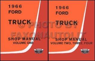 1966 FORD TRUCK & PICKUP FACTORY REPAIR SHOP & SERVICE MANUAL - ALL TRUCKS - F100 F250 F350 THUR F1100, HEAVY DUTY, MEDIUM DUTY, P-SERIES, P100