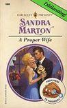 A Proper Wife by Sandra Marton